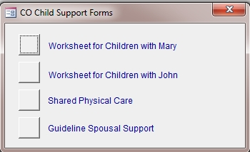 Colorado child support worksheet